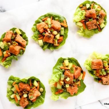 5 Spezie Salmone Lattuga Avvolge San Choy Bow