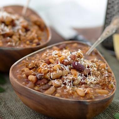 Easy Italian Multi-Bean Soup