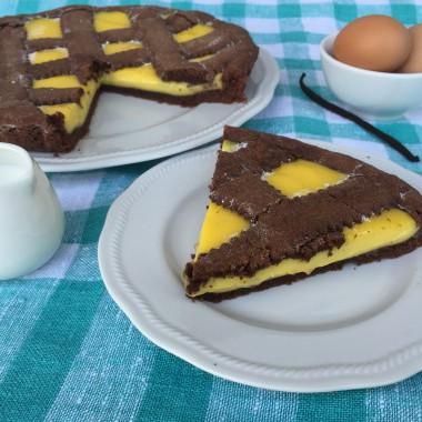 La ricetta della crostata al cioccolato con crema pasticcera senza glutine